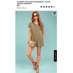 'Others Follow' Green Olive Romper